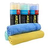Chamois Cloth for Car HAIMEEC car Cleaning Chamois Cleaning Cloth car Drying Towel Car Syntheti Towel car wash Sponge Green 3 Pack (26 x 17 inches)