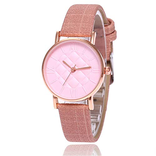 SANDA Relojes Mujer,Cinturón de Malla de aleación Reloj Reloj de Cuarzo Simple y versátil-Rosa de Mujer