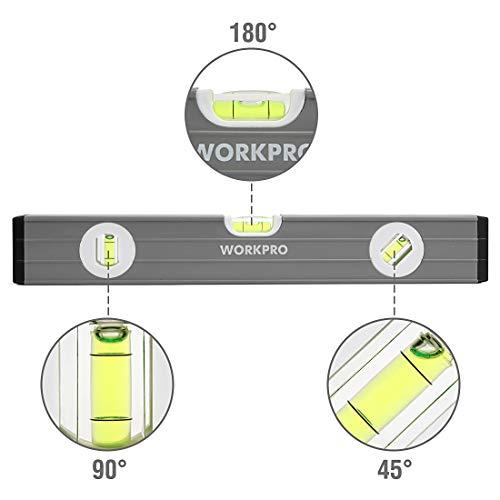 WORKPRO 3Pcs Spirit Level Set(9