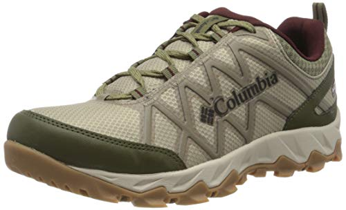 Columbia Herren PEAKFREAK X2 Wanderschuh, Grün (Silver Sage, Madder Brown 366), 42.5 EU