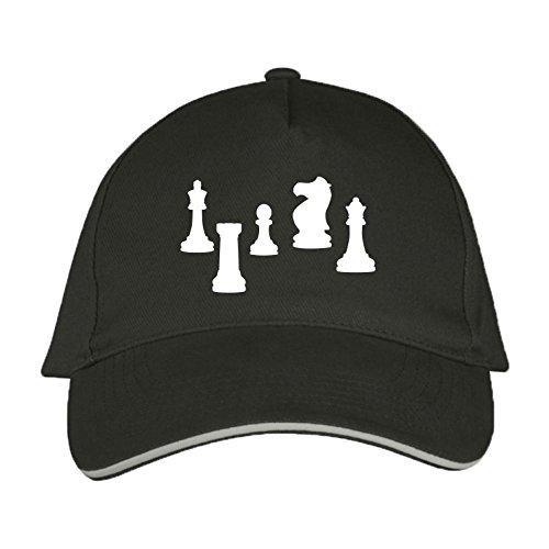 Sol's / Fassbender-Druck Basecap mit Schach Bedruckt (Schach Grau)
