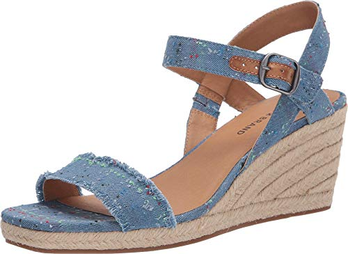 Lucky Brand Women's Marceline Light Denim Espadrille Wedge Sandal (9.5)