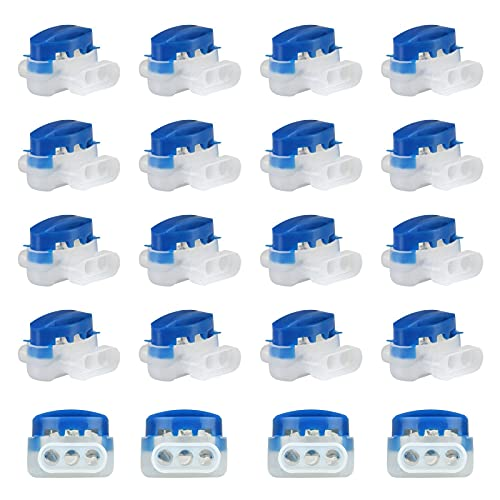 Etern 20 Piezas Conectores Conector para Cables, Abrazadera De Cable Impermeable, para Robot Cortacésped Que Tiende Cables