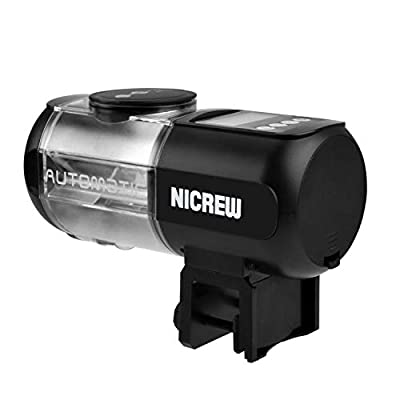NICREW Automatisierte Futterspender für Fische Aquarium Futterautomat, Aquarium Feeder mit großer Kapazität Automatische Fischzufuhrr mit LCD-Anzeige