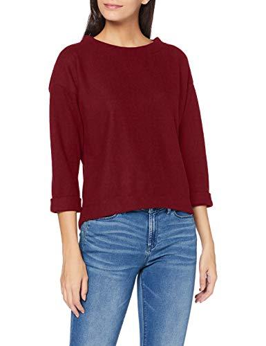 ESPRIT Damen 090EE1J312 Sweatshirt, Rot (603/BORDEAUX RED 4), M