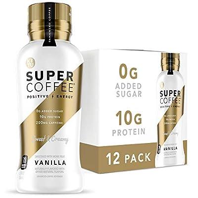 Kitu Super Coffee, Iced Keto Coffee (0g Added Sugar, 10g Protein, 70 Calories) [Vanilla] 12 Fl Oz, 12 Pack | Iced Coffee, Protein Coffee, Coffee Drinks - LactoseFree, SoyFree, GlutenFree