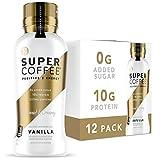 KITU SUPER COFFEE, Keto Protein Coffee (0g Added Sugar, 10g Protein, 70 Calories) [Vanilla] 12 Fl Oz, 12 Pack | Iced Smart Coffee Drinks