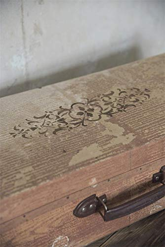 Jeanne DArc Living 702022 Vintage Stencil Sello Texto Hookham/´S 14x10 cm Shabby Chic Plantilla Reutilizable Nuevo
