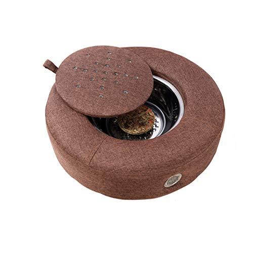RONG HOME Haushaltsrauchlosen Moxibustion Kissen Passen Temperatur MOXIBustion-Stuhl, sogar Wärmeableitungen, um usw. von usw,Braun