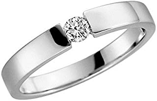 3759ct Yellow and White Gold Engagement Ring Proposal Ring Various Sizes 48to 62