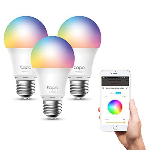 【NUEVO】TP-Link - Bombilla LED Inteligente, Bombilla WiFi, Multicolor, Regulable, E27, 8.7W 806lm,...