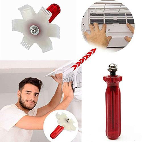 Xuji - Peine de reparación de Aletas para Aire Acondicionado, radiador, evaporador, Cepillo Limpio, Alisa Aletas dañadas y Elimina los desechos sin Peligro de pinchazos