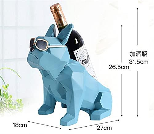 Simplicidad Moderna Bulldog francés botellero para Vino Decoraciones para el hogarSoporte para Decoraciones para el hogar Muebles creativos para el hogar Regalo para Fiestas - C