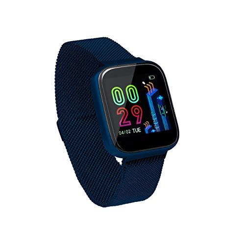 Sami - FIT Plus TACTIL - Smartwatch, Smartband, Pulsera de Actividad Deportiva. Color Azul. para Android y iOS Función: GPS, presión sanguínea, Fuerza G, Multideportivo. Correa Magnética.