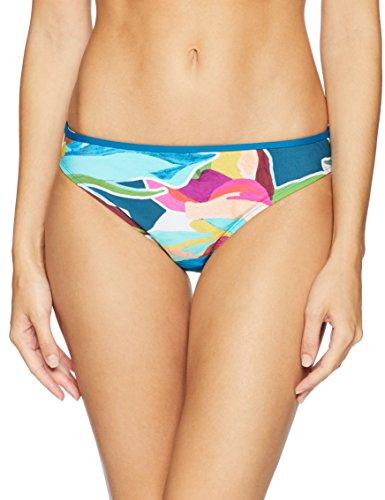 La Blanca Women's Hipster Bikini Swimsuit Bottom, Green/Floral Print, 10
