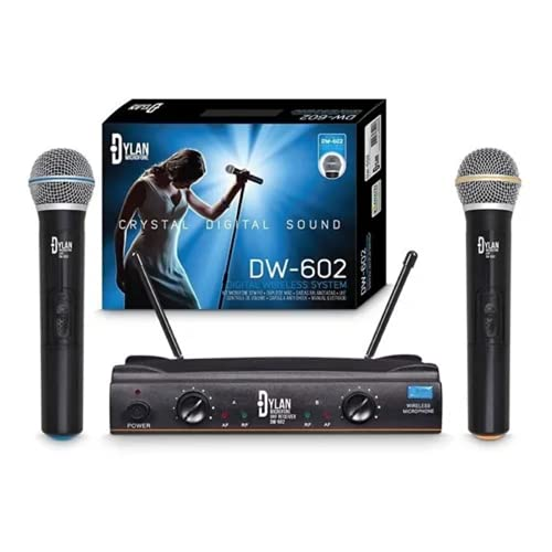 Microfone sem fio Duplo UHF – Dylan DW-602