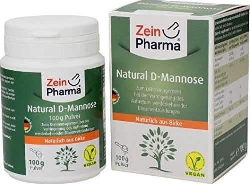 Zein Pharma Natural D-Mannose, 500 mg, 160 caps, 200 g