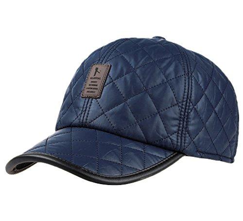 Estwell Baseballcap mit Ohrenklappen Wintermütze Golf Cap Kappe Herrenbasecap Schirmmütze Wintercap Basecap