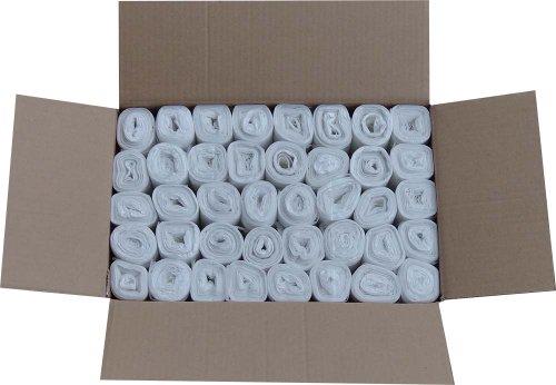 Hossi's Wholesale Müllbeutel 20l, Abfallbeutel stabil & robust, 40 Rollen à 50 Müllsäcke transparent 450x540mm, Stärke 8my