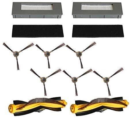 NICERE Partes de aspirador reemplazos filtro cepillos esponja para Deebot M87 M88 900 901 robótica aspiradoras