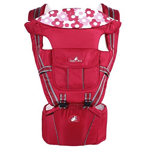 Zhanghaidong Babytrage Mit Hüftsitz Rucksack Rot Verstellbare Babytrage Sling Baby Wickeltasche Mit Großer Kapazität Träger Rückenschmerzen Unterstützung Babytrage