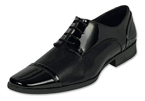 INCÓGNITA- Zapato para Hombre de Vestir, Formal,Negro, Charol y Muy cómodo 034C08 – Negro – 27