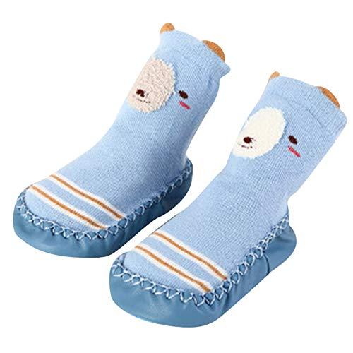 Mitlfuny Niños Niñas Invierno Calentar Tejer Calcetines de Piso para Recién Nacido Bebé Grueso Antideslizantes Lindo Dibujo Animado Bebé Medias de Algodón Zapatos de Primeros Pasos 0-2 Años