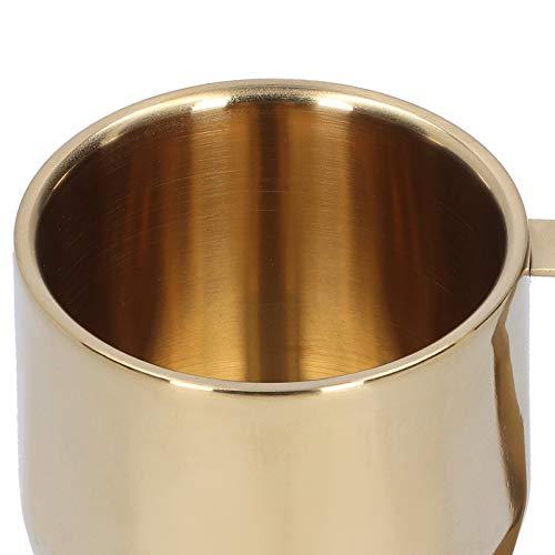 Taza de agua antioxidante de gran capacidad con asa Taza europea Taza Taza Gran regalo para los amantes Suministros de cocina para el hogar(Golden)