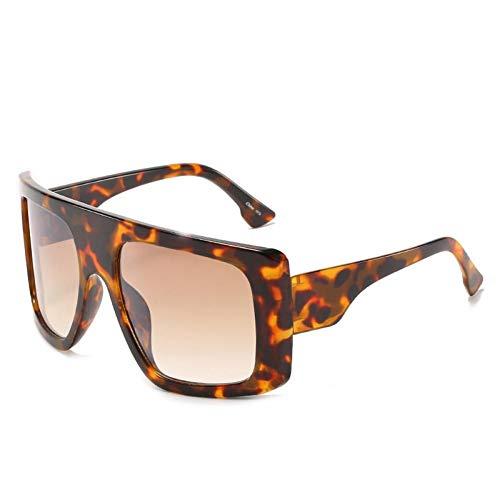ZZOW Gafas De Sol Cuadradas De Gran Tamaño A La Moda para Mujer, Gafas De Sol con Montura Grande De Color Jalea, Gafas De Sol Retro para Hombre, Gafas con Degradado Uv400