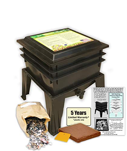 Worm Factory Basic Black 3 Tray Worm Composter (Black)
