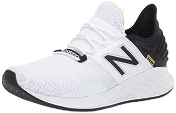 New Balance Men s Fresh Foam Roav V1 Running Shoe White/Black 9.5 M US
