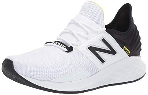 New Balance Men's Fresh Foam Roav V1 Running Shoe, White/Black, 11 M US