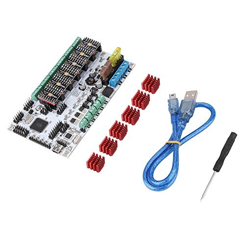 ASHATA 3D Printer Accessories,3D Printer MKS RUMBA Main Control Board Mainboard Smart Controller with TMC2208V1.0 * 6 Driver Ki