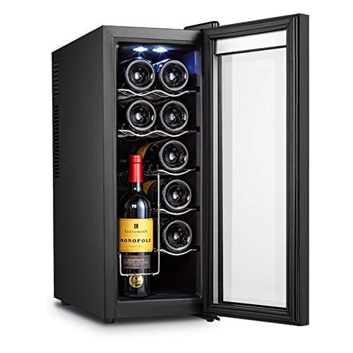 CLING Enfriador de Vino Refrigerador Enfriador Enfriador de encimera Independiente Compacto Mini refrigerador de Vino Capacidad de 12...