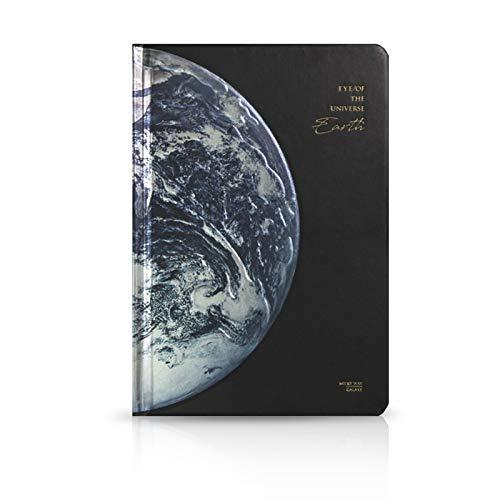 MARSACE A5 Cuaderno de Viaje Diarios para Escribir Planeta Cahier 3D Alivio Bloc Notas Agenda Journal Regalos para Hombres Mujer Niño Niña Estudiante 118 Hojas 19x13 CM Tierra