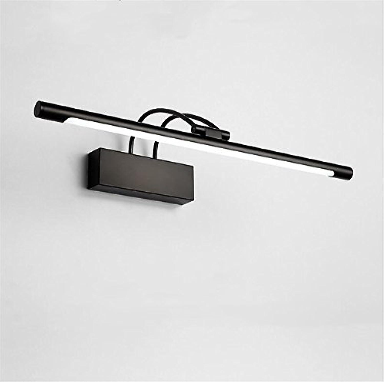 SJUN LED Spiegellicht schwarz Amerikanischer Retro- Badezimmerlicht Badezimmerspiegelkabinett-Lampenspiegel, der wasserdichte Nebellampe beleuchtend (Farbe   Weies Licht-45CM-LED 9W)