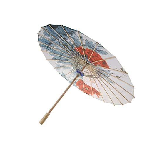 Fenteer Chinesischer Stil Stoffschirm Deko Schirm Sonnenschirm, Props für Tanzen und Fotografie - G