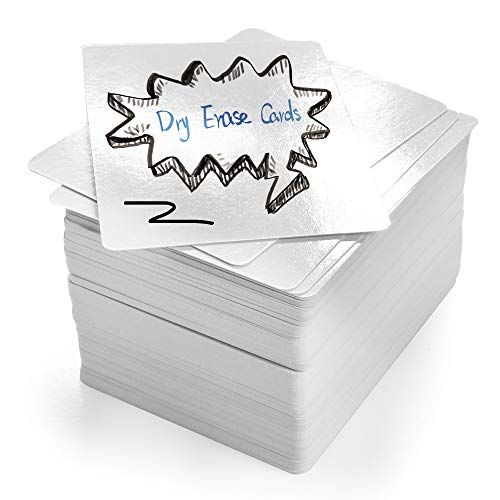 LotFancy Dry Erase Blank Playing Cards, 180PCS Reusable Flash Cards, DIY Vocabulary Study Cards, Learning Cards, Game Cards, Message Card, Gift Card, Glossy Finish, Poker Size