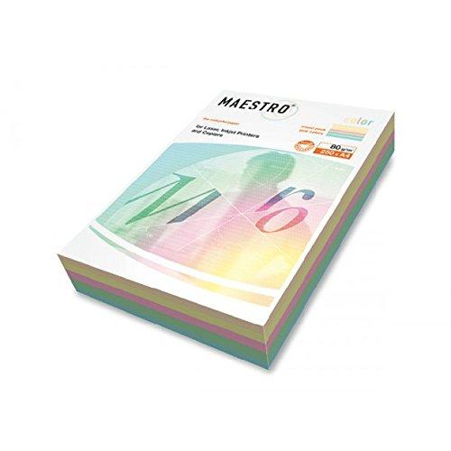 Mondi Papier IQ color A4210x 297mm 80gr 250FG Mix 5Farbe Tenue RB01Mondi