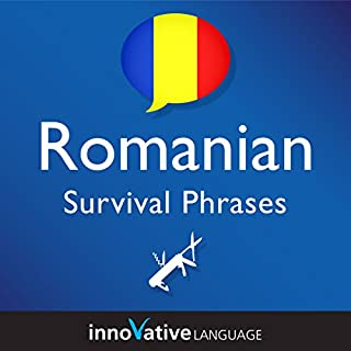 Learn Romanian - Survival Phrases Romanian, Volume 1 audiobook cover art