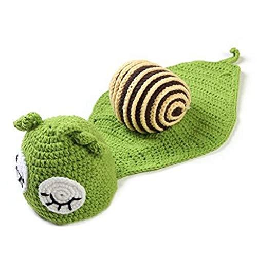 DDG EDMMSbebé recién nacido apoyos de la foto de punto ropa de ganchillo gorro sombrero de apoyos equipos de fotografía fotografía del bebé de la marca bebé del sombrero de mono verde