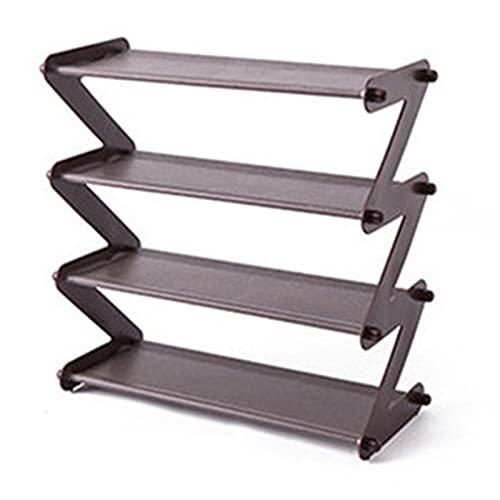Heqianqian Zapatero simple montado para zapatos de acero inoxidable, estante de almacenamiento para pasillo (tamaño: como se muestra; color: gris 4 larer)