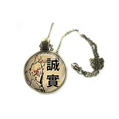 memory Collar Chino de honestidad, Colgante Chino, joyería China, Signos Chinos, joyería China