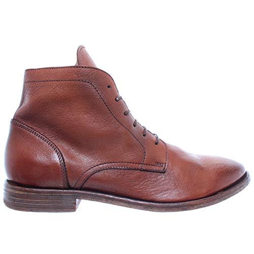 MOMA Herren Schuhe Stiefeletten 18904-5E Cervo Cuoio Leder Braun Vintage Neu
