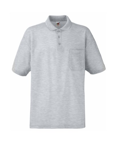 Fruit of the Loom - Polo - Homme - Gris - Gris - Large