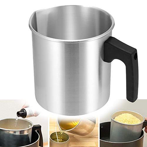 SOOTOP - Jarra de metal para hacer velas, jarra de metal para fundición de cera, taza de fusión de cera para hacer velas para el hogar DIY Candle Store (1,2 L)