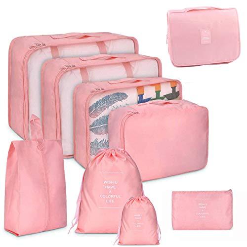 N-B Juego de Cajas de Almacenamiento de Embalaje Bolsa de Almacenamiento de Cubo de Embalaje de Viaje de 9 Piezas para Almacenamiento de Viaje en casa
