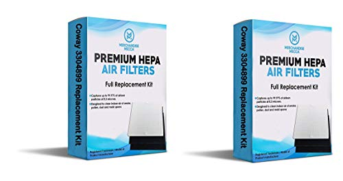 Merchandise Mecca Premium Replacement Filter for Coway AP1512HH Air Purifiers 3304899 with 2 Carbon Filters (2 HEPA Filters and 4 Carbons)