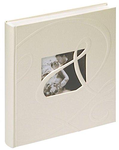 walther design UH-122 Hochzeitsalbum Ti Amo mit Ausstanzung zur persönlichen Gestaltung, 60 Seiten, 28 x 30,5 cm