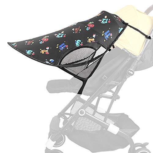 auvstar Funda para Cochecito de Bebé, Toldo para Cochecito de Bebé, Parasol para Cochecito de Bebé, Parasol Negro, Protector Ssolar,Tiene una Excelente Protección UV(Impresión)